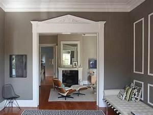 Wandfarbe Grau Mit Weien Rahmen FresHouse