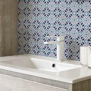 Stickers Carreaux De Ciment : 30 stickers carreaux de ciment azulejos mattia cuisine ~ Premium-room.com Idées de Décoration