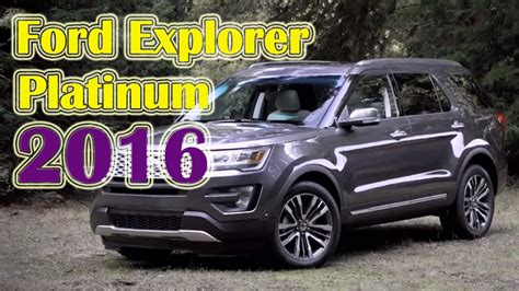 Ford Explorer 2016 Platinum