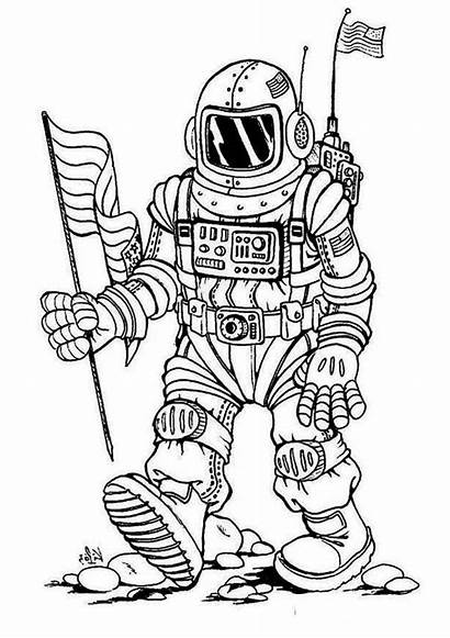 Astronaut Coloring Future Fantasy Pages