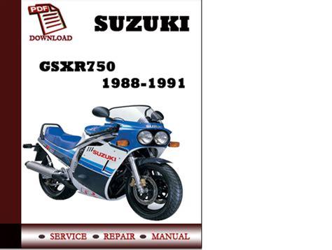 suzuki gsxr750 1988 1989 1990 1991 workshop service repair manual p