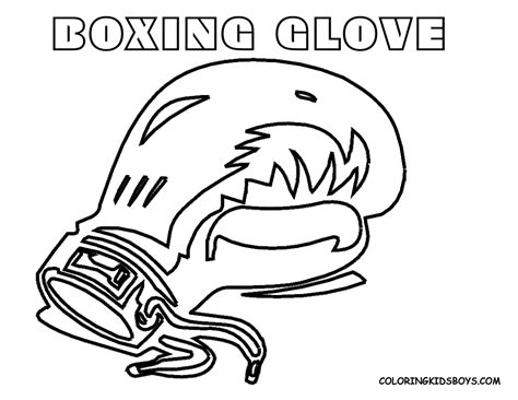 Boxing Printable Coloring Pages