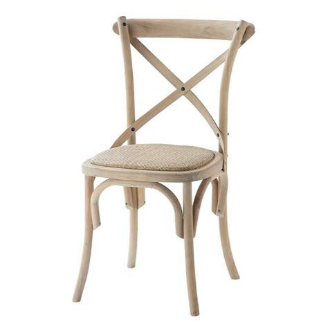 chaises maison du monde chaise en rotin et bouleau tradition maisons du monde