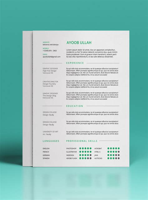 photoshop resume template 24 free resume templates to help you land the
