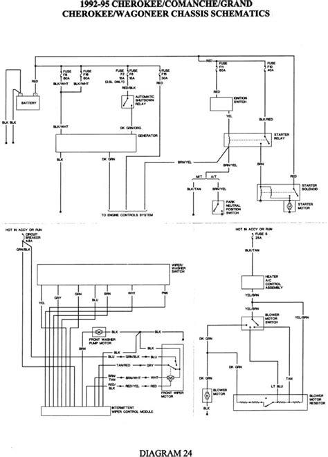 jeep wrangler light wiring diagram jeep cj alternator