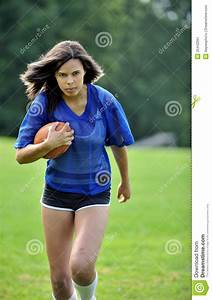 Beautiful Biracial Female Soccer Player Stock Image ...
