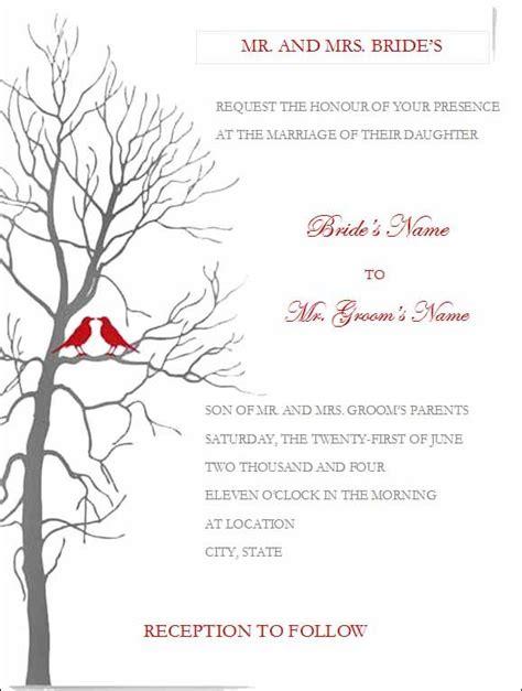wedding invitation templates  microsoft word diy