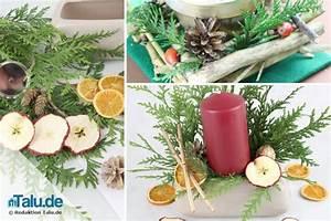 Weihnachtsgestecke Selber Machen : weihnachtsgesteck aus naturmaterialien selber machen ~ Whattoseeinmadrid.com Haus und Dekorationen