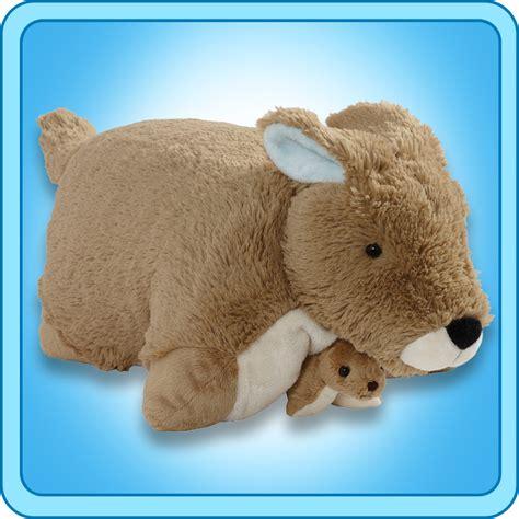 jumbo pillow pets pillow pet kangaroo 16 inch large folding plush stuffed