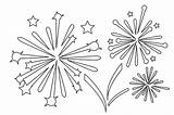 Fireworks Coloring Pages Firework Printable Colouring July Templates Colors Games Sheets Clipart 4th Eve Printables Happy Onlycoloringpages Pdf Getcoloringpages Stencil sketch template