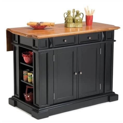 kitchen island and breakfast bar home styles kitchen island with breakfast bar in black ebay