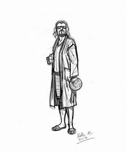 Lebowski Sketch Dude Malloy Obviously Kalle Ifanboy