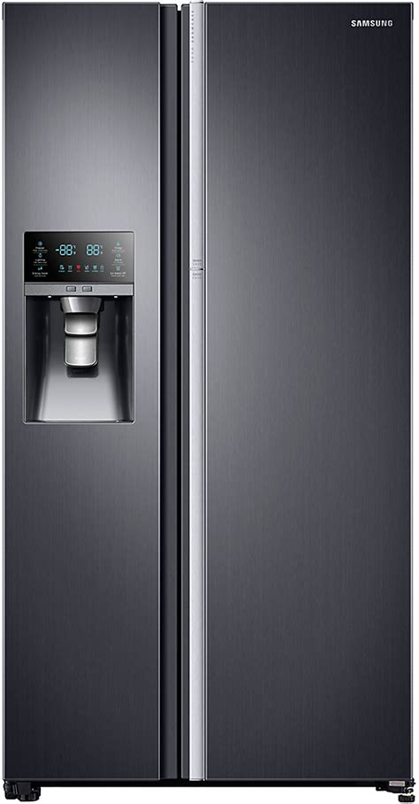samsung side by side samsung rh22h9010sg 36 inch counter depth side by side refrigerator with food showcase door