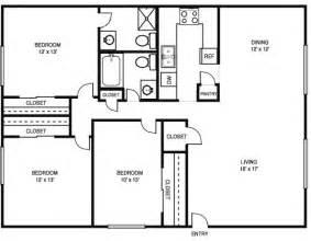three bedroom two bath house plans 3 bedroom 2 bath floor plans marceladick