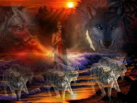 images  wolves  native american indians