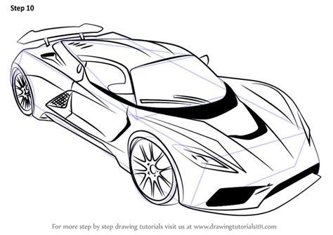 learn   draw venom  sports cars step  step