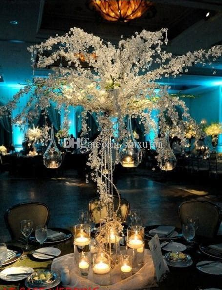 cm tall acrylic crystal wedding tree  led light