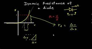 Dynamic Resistance Of A Diode
