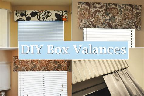 diy project revisited box valances our foreclosure