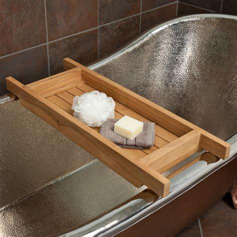 teak bathtub tray caddy teak tub caddy contemporary bathroom accessories by