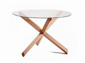 Table à Manger Verre Et Bois : table ronde en verre design brin d 39 ouest ~ Teatrodelosmanantiales.com Idées de Décoration