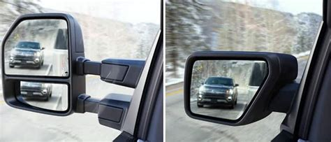 trailer tow mirrors  blis blind spot information