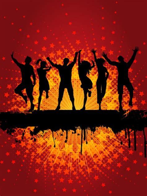 danse populaire silhouette fond telecharger des vecteurs