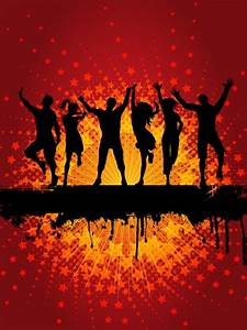 Dancing People Silhouette Background Vector | Free Download