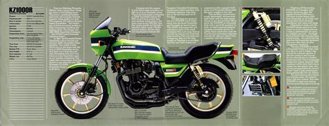 Vintage Kawasaki by Racing Caf 232 Vintage Brochures Kawasaki Kz 1000r