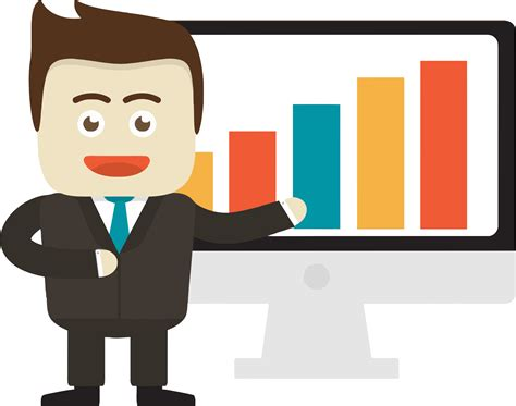 Businessman Clipart Graph Clipart Pencil And In Color Graph Clipart