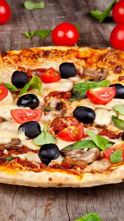 Pizza Cheese Dish Tomatoes Wallpapers Olives Mushrooms