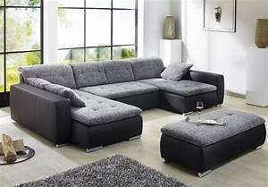 Roller Wohnzimmer Couch : sofa couch ferun 365x200 185cm mit hocker anthrazit schwarz wohnbereiche wohnzimmer sofa ~ Indierocktalk.com Haus und Dekorationen