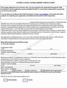 scholarship application format With scholarship forms template