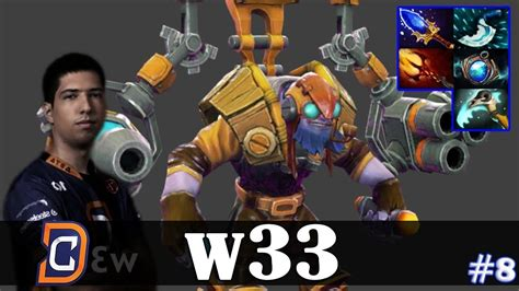 w33 tinker mid dota 2 pro top mmr gameplay 8 youtube