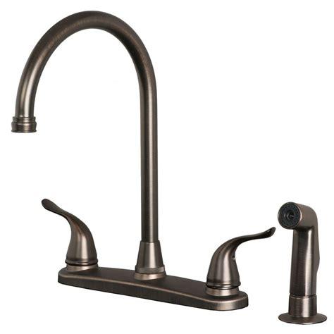 classic high arc swivel kitchen faucet  side spray brushed bronze finish ebay