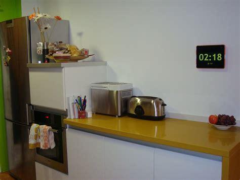 horloge digital pour cuisine idées décoration intérieure