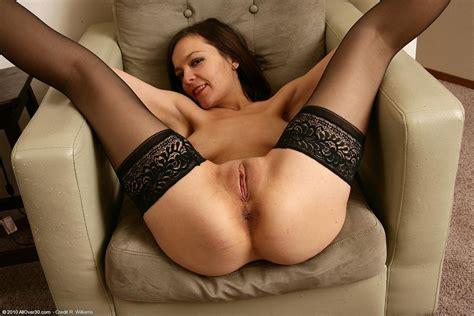 Hot Brunette Milf Posing In Stockings Pichunter