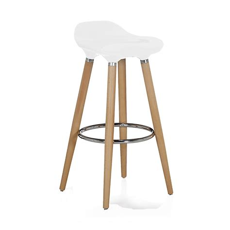 tabouret de bar blanc avec pieds en h 234 tre massif jade tabouret consoles tables chaises