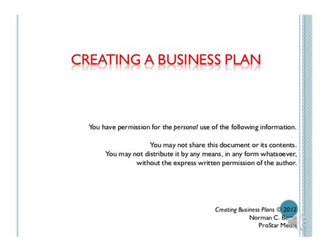 Film Production Business Plans (intro Only