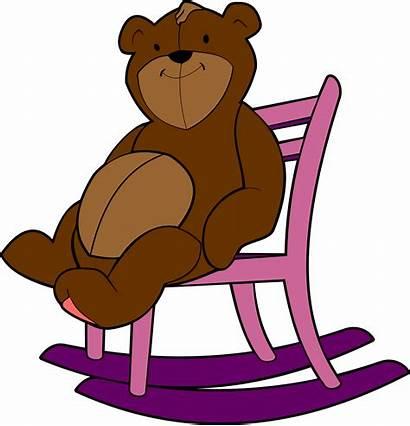 Chair Cartoon Clipart Rocking Under Bear Mi
