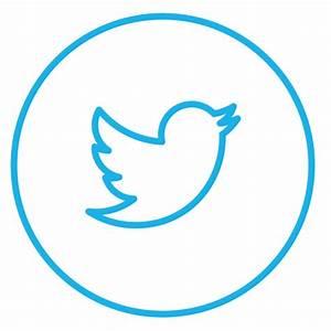 Circle, circles, line, neon, social, tweet, twitter icon ...