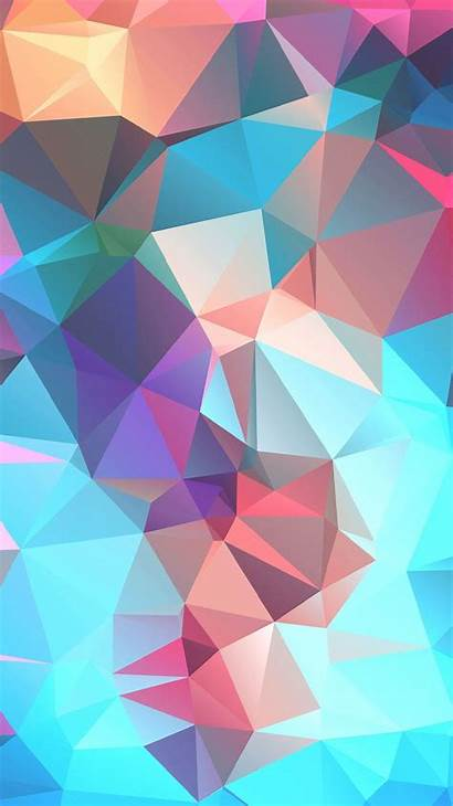 Iphone Colorful Wallpapers Backgrounds Background Phone Polygon
