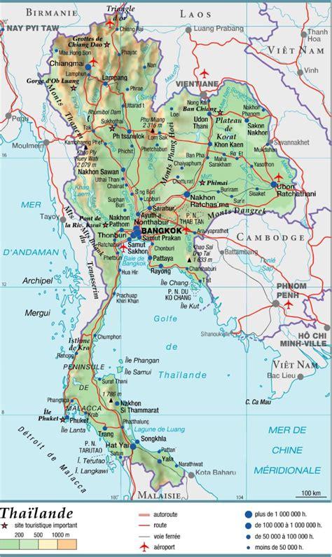 Thailande Carte Geographique Monde by Carte Thailande Carte Du Monde