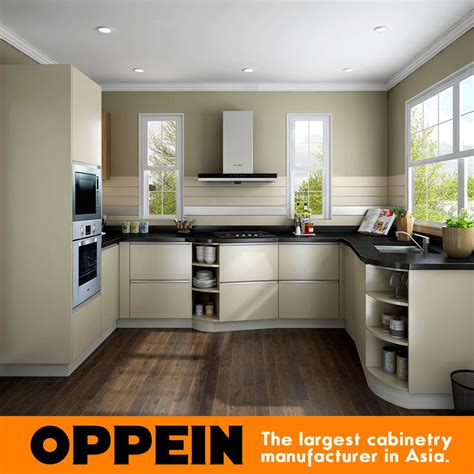 China Oppein Modern Wholesale Hpl Melamine Small Kitchen