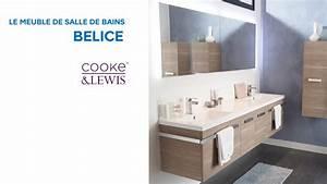 Meuble de salle de bains belice cooke lewis 648739 for Salle de bain design avec meuble salle de bain 60 cm castorama