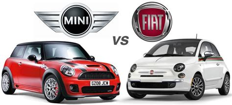 Mini Vs Fiat 500 by To Mini Cooper Vs Fiat 500 Wvl