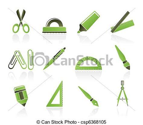 outils de bureau vecteur clipart de école outils bureau icônes école