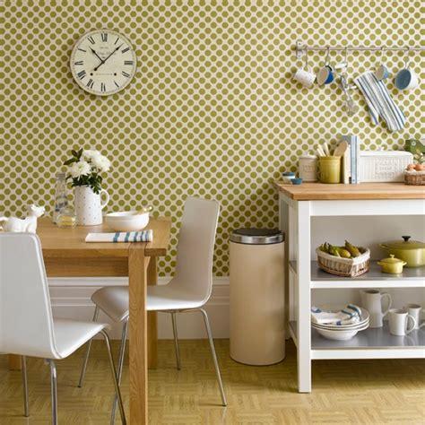 kitchen wallpaper ideas geometric green wallpaper kitchen wallpaper ideas 10 of the best housetohome co uk
