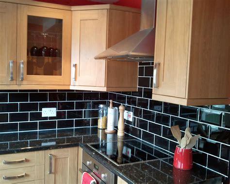 black tiled splashbacks for kitchens s black metro tile splashback walls and floors 7909