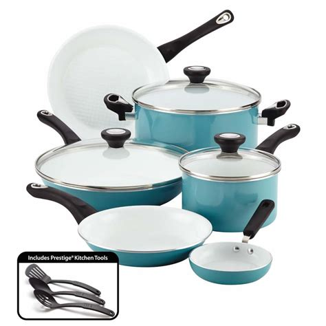 farberware purecook ceramic nonstick cookware  piece cookware set review